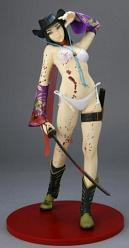 Oneechanbara Aya 1:6 26cm PVC Statue Blood Version