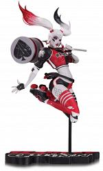 DC: Harley Quinn Red White and Black Statue - by Babs Tarr