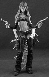 Sin City Nancy Action Figur S/W