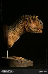 Museum Series: Female Carnotaurus Bust Wet Rainforest Version