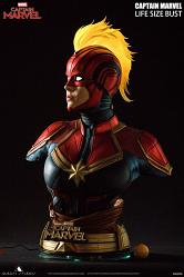 Bust Captain Marvel Studios Queen Life Size