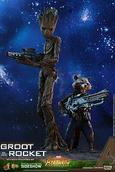 Marvel: Avengers Infinity War - Groot and Rocket 1:6 Scale Figur