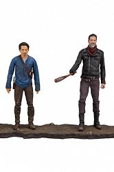 The Walking Dead TV Version Actionfiguren Doppelpack Negan & Gle