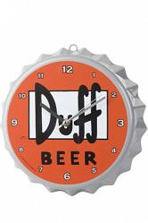 Simpsons Wanduhr Duff Beer