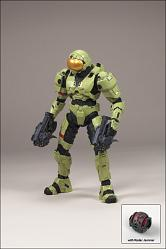 SPARTAN SOLDIER SECURITY (OLIVE)HALO SERIES 4 (2009 WAVE 1) - EQ