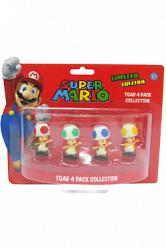 Super Mario Bros. Geschenkbox mit 4 Figuren Toad Edition 6 cm