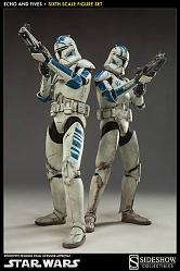 Star Wars Actionfiguren Doppelpack 1/6 Clone Troopers Echo & Fiv