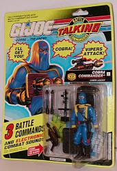 Talking Battle Comanders Cobra Commander