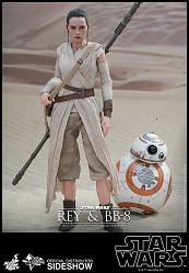 Star Wars The Force Awakens: Rey & BB-8 1:6 scale figure set