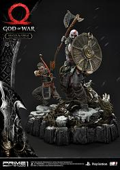 God of War: Kratos and Atreus Ivaldi's Deadly Mist Armor Statue