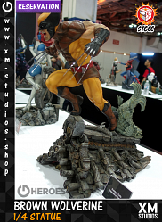 XM Studios Wolverine (Brown) 1/4 Premium Collectibles Statue Res