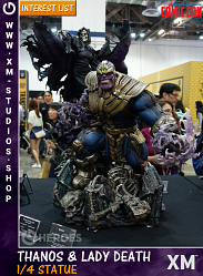 XM Studios Thanos & Lady Death 1/4 Premium Collectibles Statue