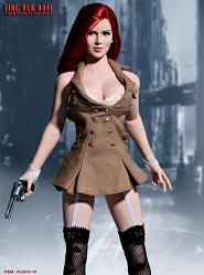 Phicen Limited 1/6 Scale PL2013-19 Fire Red Rose Female Action F