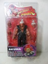 Street Fighter Series 4 Akuma Action Figure white Hair