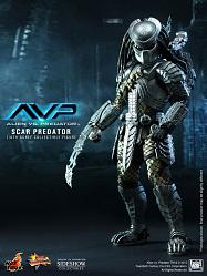 Alien vs. Predator Movie Masterpiece Actionfigur 1/6 Scar Predat