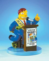 THE SIMPSONS: MAYOR QUIMBY STATUE