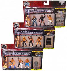 WWE Wrestling Actionfiguren 3-Packs Micro Aggression (3er Set)