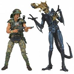 Aliens Actionfiguren Doppelpack Hicks vs. Battle Damaged Blue Wa