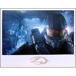 Halo 4 Master Chief and Cortana Guardian Lithograph Print