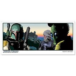 Star Wars Bounty Hunters Paper Giclee Print