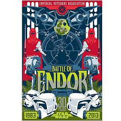 Star Wars Battle of Endor Variant Paper Giclee Art Print