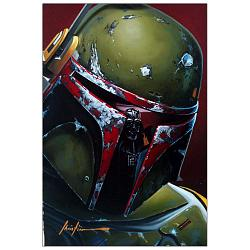 Star Wars Boba Fett on Cloud City Small Canvas Giclee Print