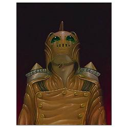 Rocketeer Hood Ornament Canvas Giclee Print