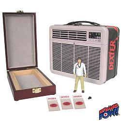 Dexter 3 3/4-Inch Action Figure in Tin Tote with Blood Slide Box