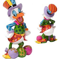 "Britto Disney Figurines and Boxes - 8"" Scrooge Mc Duck"