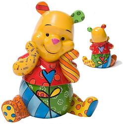 "Britto Disney Figurines and Boxes - 7"" Winnie The Pooh"