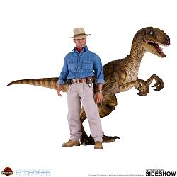 Jurassic Park: Dr. Alan and Velociraptor 1:6 Scale Figure Set