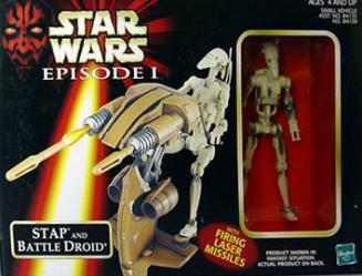 Stap mit Battle Droid