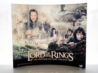 Lord of the Ring: Characters Glass Print Curved