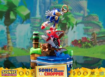 Sonic the Hedgehog: Sonic vs Chopper Diorama
