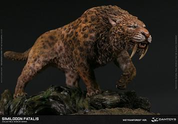 Museum Series: Smilodon Fatalis Statue Wet Rainforest Version