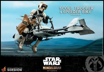 Star Wars: The Mandalorian - Scout Trooper and Speeder Bike 1:6