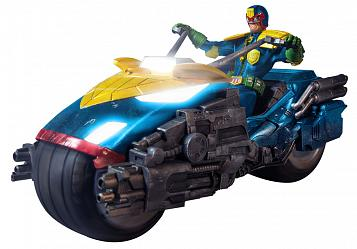 Judge Dredd Actionfigur 1/12 Judge Dredd with Lawmaster Bike Box
