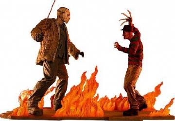 "Jason vs. Freddy 15"" Cold Cast Statue Set"