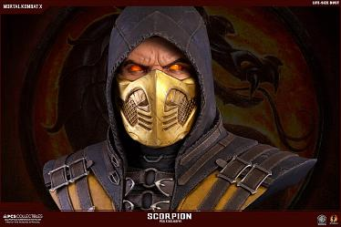 Mortal Kombat X: 'Hellfire' Scorpion Exclusive Life-Sized Bust