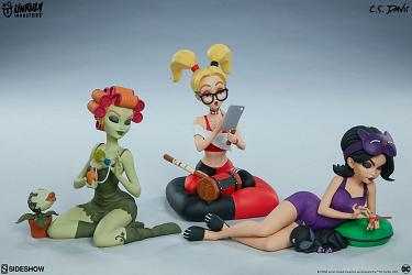 DC Comics: Sleepover Sirens 3 Piece Statue Set
