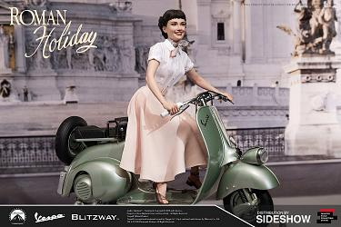 Roman Holiday: Princess Ann and 1951 Vespa 125 1:4 Scale Statue