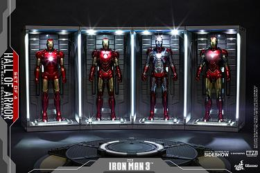 Marvel: Iron Man 3 - Hall of Armor Set of 4 - 1:6 Scale Accessor