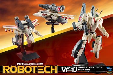 Robotech: 1/100 VF-1D Super Veritech - Rick Hunter - VF-1J