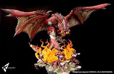 Monster Hunter: Rathalos - The Fiery Bundle Diorama
