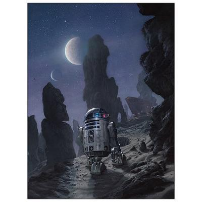 Star Wars R2-D2 Artoo\'s Lonely Mission Paper Giclee Print