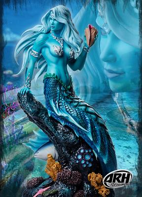 Arhian: Sharleze the Good Mermaid Blue Skin Version 1:4 Scale St
