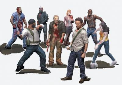 The Walking Dead TV series: Building Sets - Blind Bag Figure ser