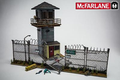 The Walking Dead TV series: Building Sets - Prison Tower & Gate