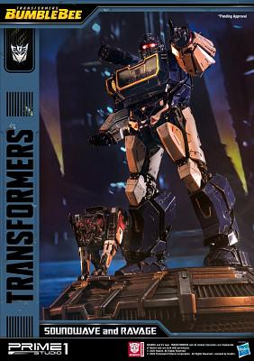 Transformers: Bumblebee Movie - Soundwave and Ravage Statue