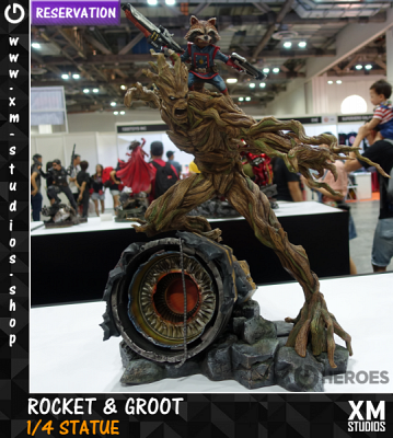 XM Studios Rocket & Groot 1/4 Premium Collectibles Statue Reserv